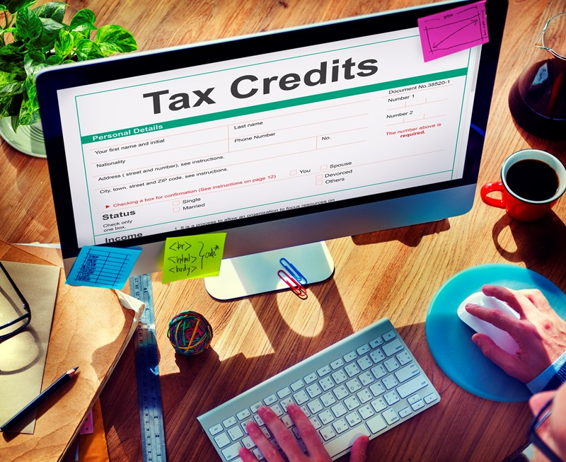 Do capital gains affect tax credit claims?